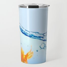 GOLDFISH AQUARIUM WATER ART Travel Mug