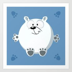 Polar bear form the circle series Art Print