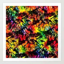Vivid Psychedelic Hippy Tie Dye Art Print