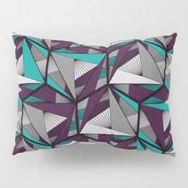Hexagonal graphic lines - darker Pillow Sham