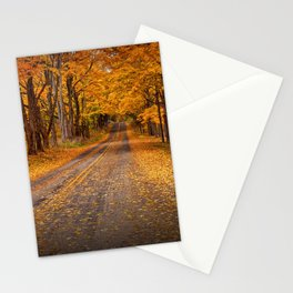 Fall Rural Country Road Stationery Cards