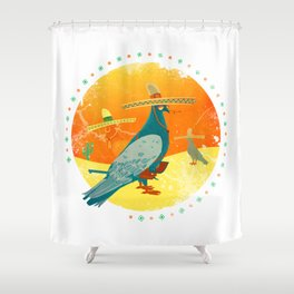 Feathers and bullets Shower Curtain