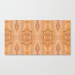 Olive wood surface texture abstract Canvas Print
