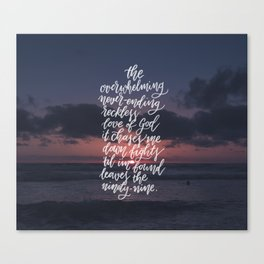 Reckless Love Canvas Print