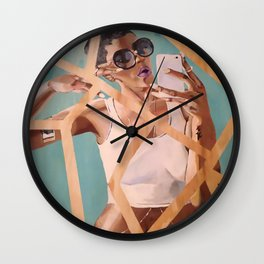 Wait...Let me take a selfie Wall Clock