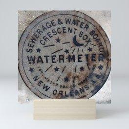 Street Water Meter - New Orleans LA Mini Art Print