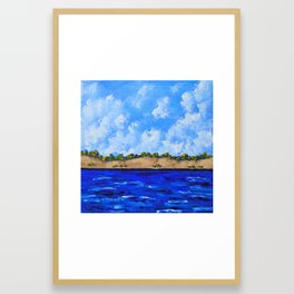 On the Shores of Lake Michigan Framed Art Print