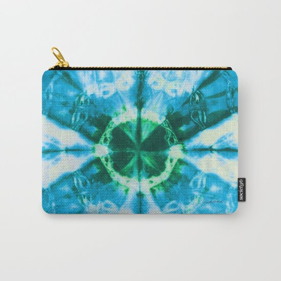 Boho Blue Bloom Carry-All Pouch