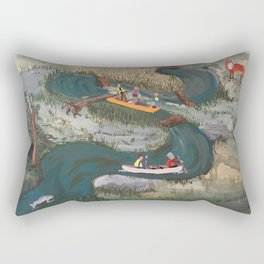 Canoeing Rectangular Pillow
