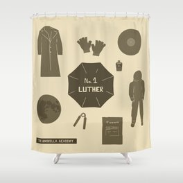 no.1 luther Shower Curtain