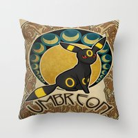 umbreon Throw Pillows featuring Umbreon by Yamilett Pimentel