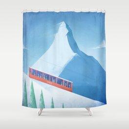 Ski Zermatt Shower Curtain