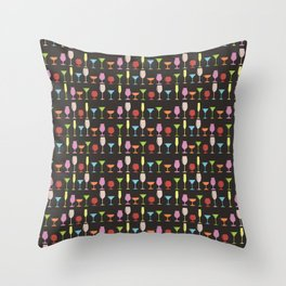 Colorful stemware Throw Pillow