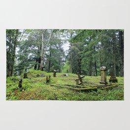 Cemetery in Alaska Rug
