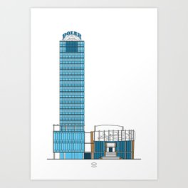 Torre Polar y Teatro del Este Art Print