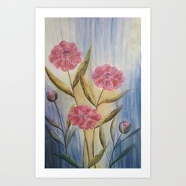 Roses Weather The Winter With Panache Art Print