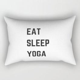 EAT SLEEP YOGA Rectangular Pillow