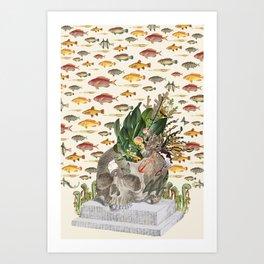 Memento Mori - by Bedelgeuse (anatomical collage art) Art Print