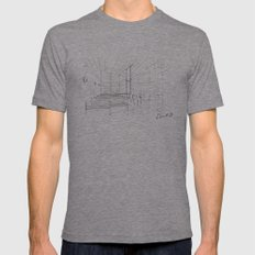 Church of the light - Tadao Ando LARGE Tri-Grey Mens Fitted Tee