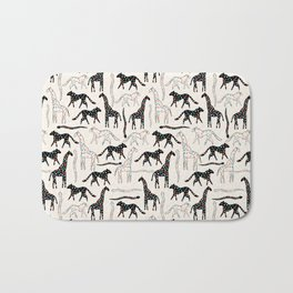 Safari Confetti Party Bath Mat