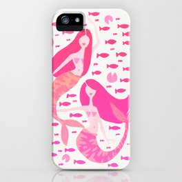 Koi Mermaids – Pink Palette iPhone Case