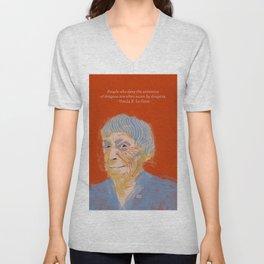 Ursula K. Le Guin portrait + quote Unisex V-Neck
