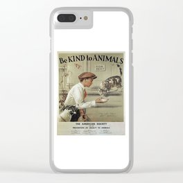 Be Kind To Animals 1 Clear iPhone Case