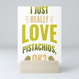Green Pistachios Cashew Family Nuts Lover Gift Mini Art Print