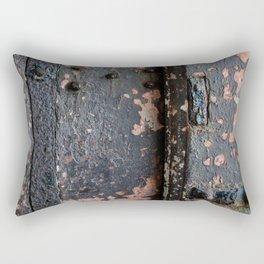 Rusty Fort Door Detail Rectangular Pillow
