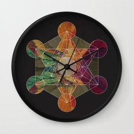 Balancing Energy: Metatron's Cube Wall Clock