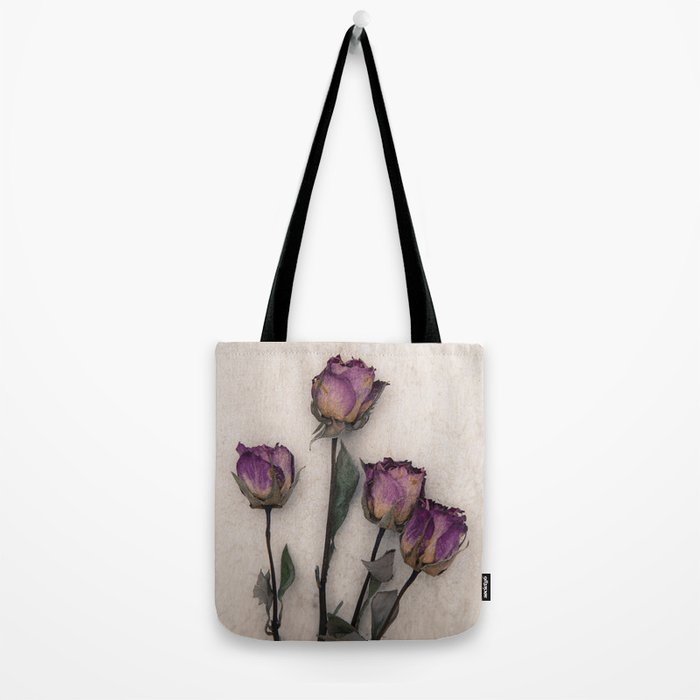 four dried roses Tote Bag