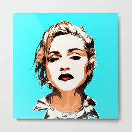 Blue Madonna Metal Print