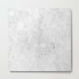 White Light Gray Concrete Metal Print