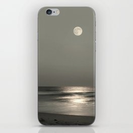 Moon Rise Over the Atlantic iPhone Skin