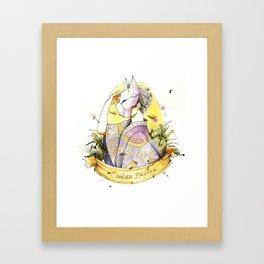 Behind fox face Framed Art Print