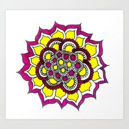 Flower-blam Art Print