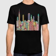 new york modern  LARGE Mens Fitted Tee Black