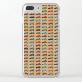 2CV pattern Clear iPhone Case