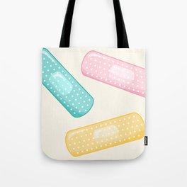 Pastel Plasters Tote Bag
