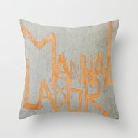 dancer Throw Pillows featuring Dancer by Mahoney-Mahoney