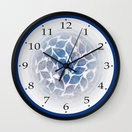 Frozen Leaves 11 Wall Clock