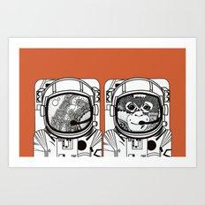 Searching for human empathy Art Print