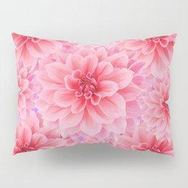 PINK DAHLIA FLOWERS IN GREY DESIGN Pillow Sham