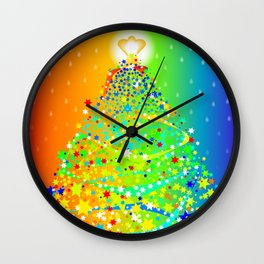 Ribbon Christmas Tree Wall Clock