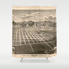 Bird's Eye View of Azusa, California (1887) Shower Curtain
