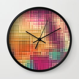 Colored Tetris Wall Clock