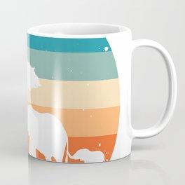 Elephant Tshirt - Vintage Retro Sunset Coffee Mug