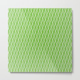 Green Wispy Stripes Metal Print