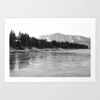 Frozen Lake Tahoe  Art Print