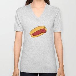 Hot Dog Dachshund Unisex V-Neck